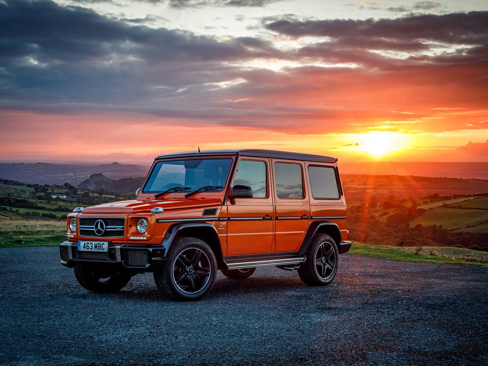 Фотографии Мерседес бенц Гелентваген 2016-17 G 63 Colour Edition Оранжевый Металлик Автомобили 1600x1200 Mercedes-Benz G-класс Авто Машины