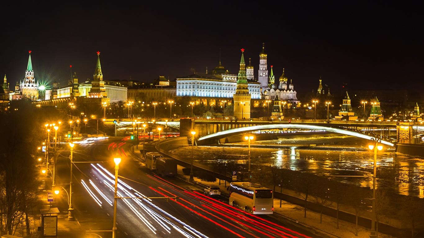 Обои russia, ночь, kremlin, россия, кремль, moscow. Города foto 19