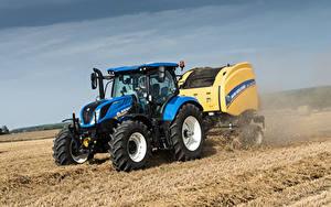 Картинки Поля Тракторы 2015-19 New Holland T6.175