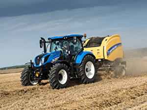 Картинки Поля Тракторы 2015-19 New Holland T6.175