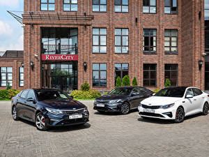 Обои KIA Втроем Металлик 2015-19 Optima Sedan Автомобили