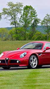 Фото Альфа ромео Красный Металлик 20008 8C Competizione Авто