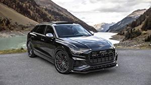 Картинки Audi Черная Металлик SQ8 TDI ABT 2019 автомобиль