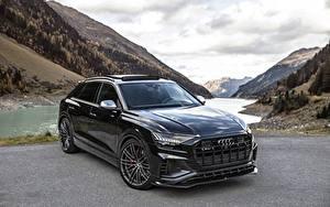 Обои для рабочего стола Audi Черная Металлик SQ8 TDI ABT 2019 автомобиль