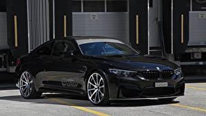 Картинки BMW Черный Металлик Купе 2017 M4 Coupe Competition Package авто