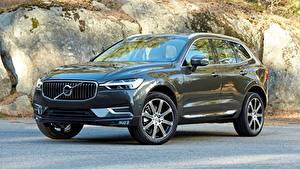 Фотографии Volvo Черный Кроссовер Металлик xc60 2018 авто