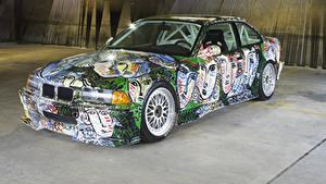 Обои БМВ Стайлинг 1992 3 Series Coupe Art Car by Sandro Chia