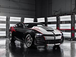 Картинка Chevrolet Черных Дизайна COPO, 2020, John Force Edition Автомобили