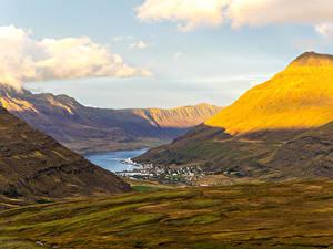Фото Исландия Горы Озеро Каньон Sudur-Mulasysla
