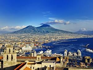 Фото Горы Здания Италия Naples Города