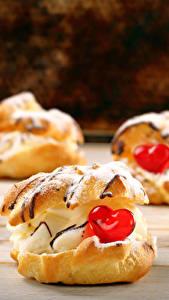 Картинки День святого Валентина Сладкая еда Пирожное Серце Пища