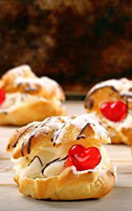 Картинки День святого Валентина Сладкая еда Пирожное Серце