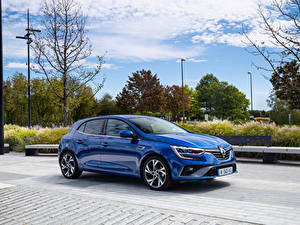 Фотография Renault Синих Металлик Megane R.S. Line, 2020 машина