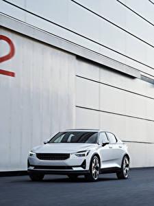 Обои для рабочего стола Белый Металлик 2019 Polestar 1 Worldwide автомобиль