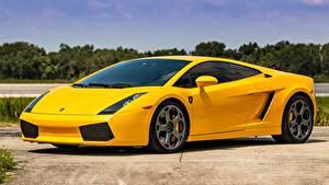 Картинки Lamborghini Желтые Металлик Gallardo