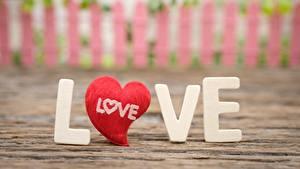 Обои для рабочего стола Любовь Сердце Инглийские Слова