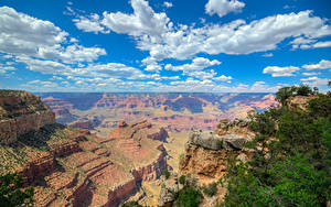 Картинка Гранд-Каньон парк США Парк Гора Небо Облако Природа