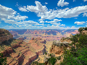 Картинка Гранд-Каньон парк США Парки Горы Небо Облако