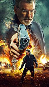 Картинки Мужчины Пистолеты Пирс Броснан Джеки Чан Иностранец 2017 Кино