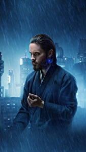 Картинки Бегущий по лезвию 2049 Дождь Мужчины Jared Leto Фильмы Знаменитости