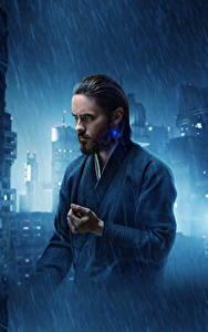 Картинки Бегущий по лезвию 2049 Дождь Мужчины Джаред Лето Кино Знаменитости