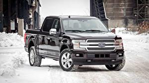Фотография Ford Металлик Пикап кузов Черный 2018 F-150 Platinum SuperCrew машина