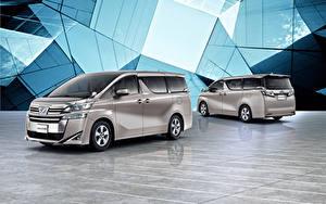 Фотографии Тойота Минивэн 2 Серая 2018-19 Vellfire X Автомобили