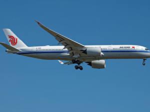 Обои Эйрбас Самолеты Пассажирские Самолеты Сбоку A350-900, Air China