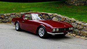Фотографии Феррари Винтаж Бордовый Металлик 1967 330 GT Coupe Michelotti авто