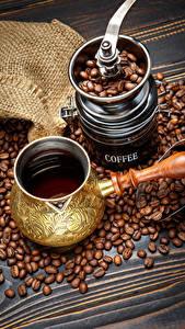 Картинки Напитки Кофе Кофемолка Зерна