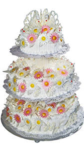 Фото Сладости Торты Белом фоне Дизайн Свадьба Wedding Cake Еда