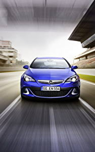 Фото Opel Спереди Синий Astra, OPC, 2015 Автомобили