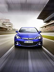 Фото Opel Спереди Синяя Astra, OPC, 2015 Автомобили