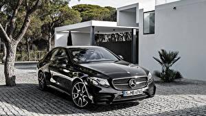 Картинка Мерседес бенц Черная Металлик E-Class W213 AMG Автомобили