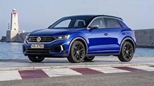 Фото Volkswagen Синих Металлик 2020 T-Roc Автомобили