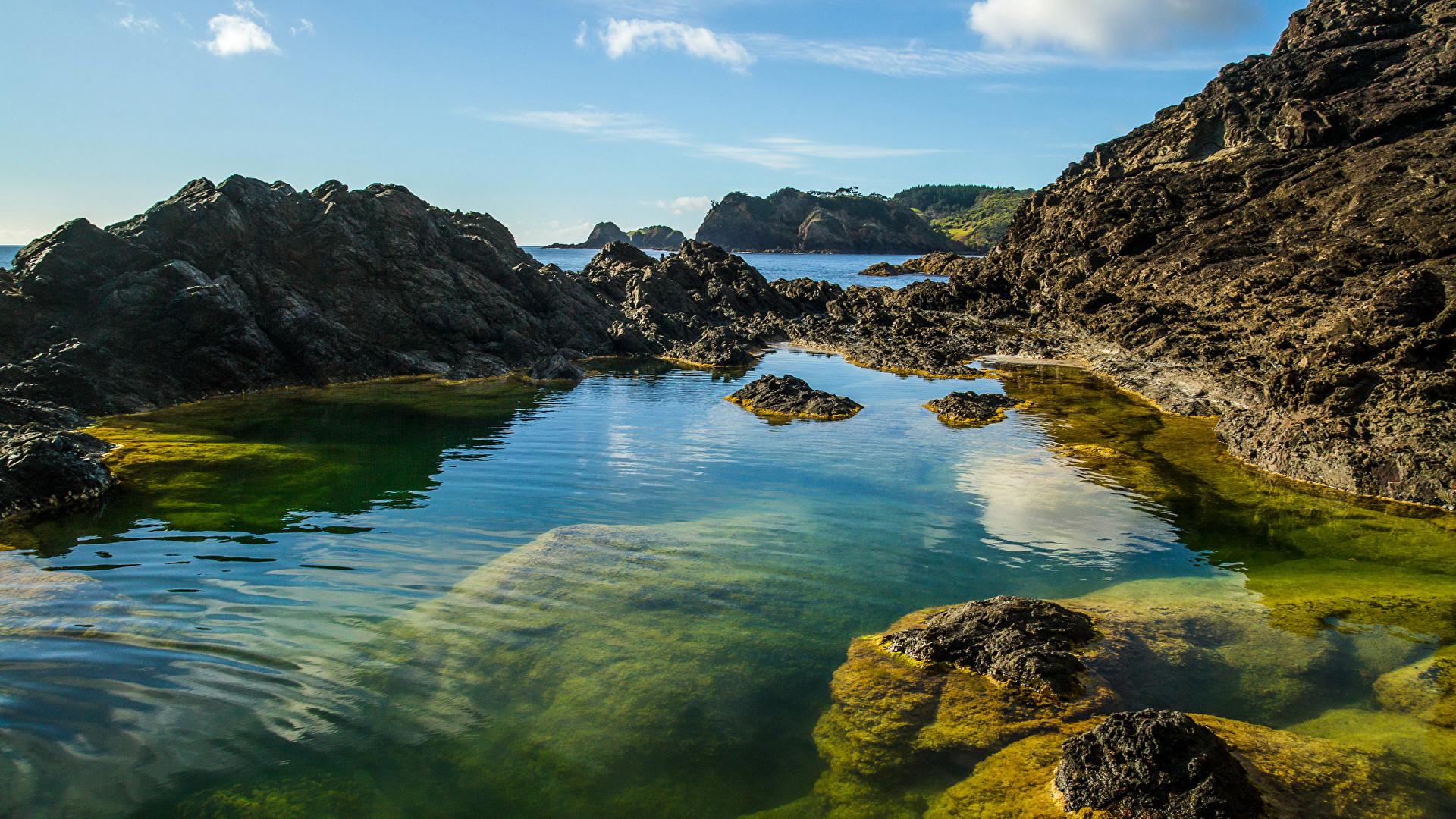 Новая зеландия Hd: Картинки Новая Зеландия Whangarei Скала Природа Небо 1920x1080