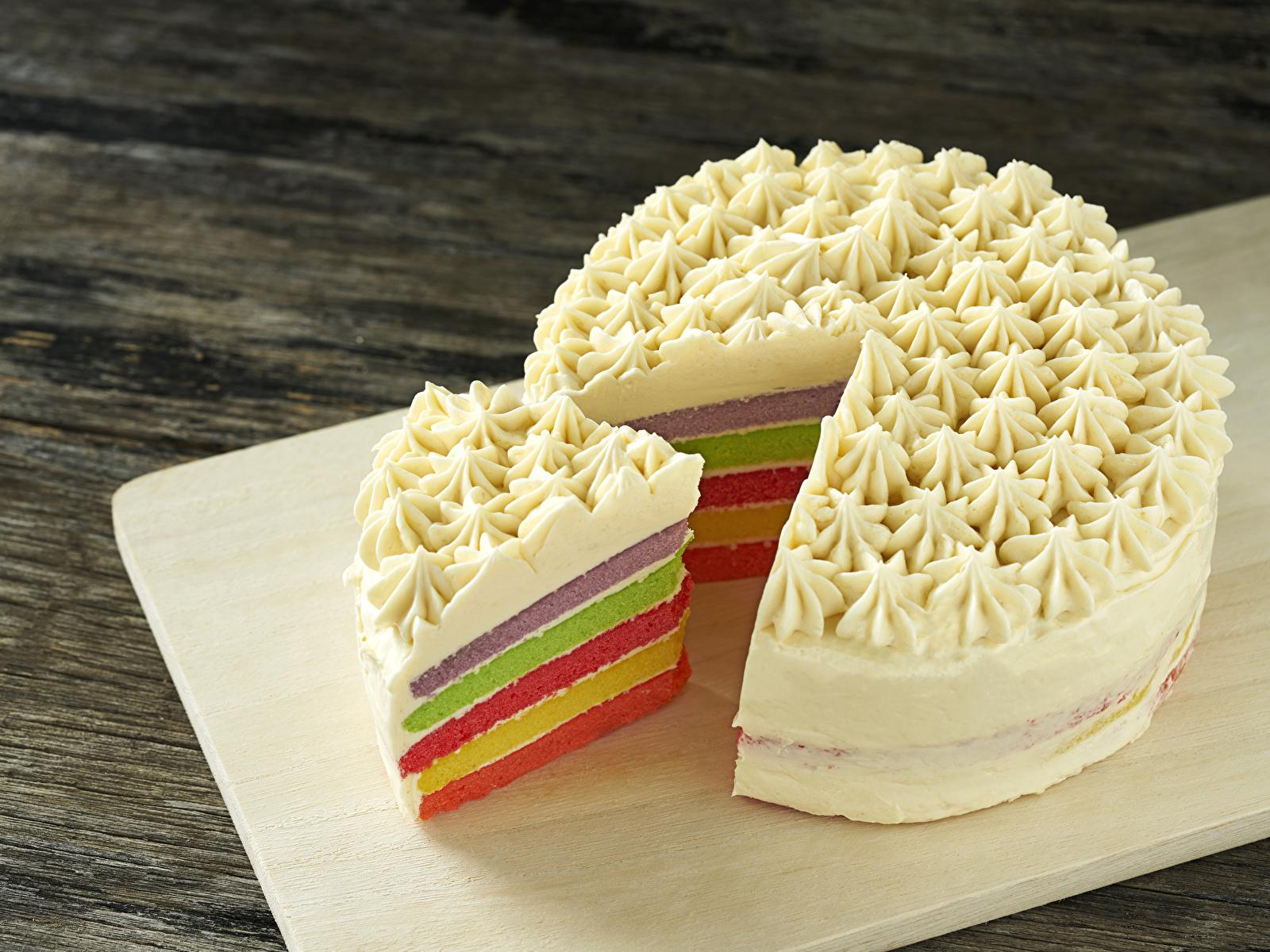 Картинки Торты кусочки Продукты питания сладкая еда 1600x1200 часть Кусок кусочек Еда Пища Сладости