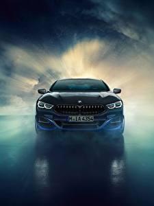 Фото БМВ Спереди 8-Series 2019 M850i XDrive Night Sky Edition Природа