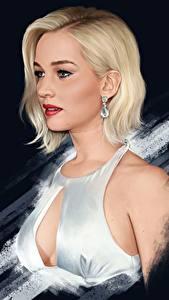 Картинки Jennifer Lawrence Рисованные Блондинка Красивые Знаменитости Девушки