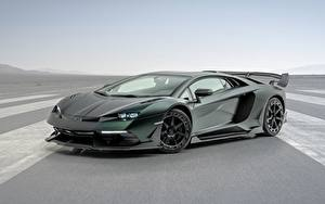 Фотографии Lamborghini Сбоку Углепластик Aventador, Mansory, 2020, SVJ, Cabrera машины