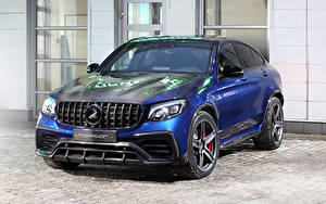 Картинка Мерседес бенц Синий 2018-19 TopCar  AMG GLC-Klasse Coupe Inferno Авто
