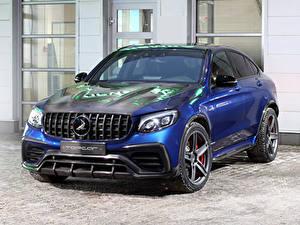 Картинка Мерседес бенц Синий 2018-19 TopCar  AMG GLC-Klasse Coupe Inferno