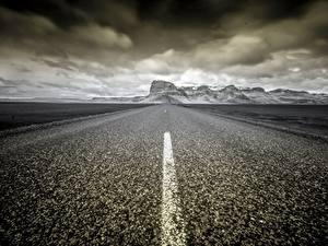 Фото Дороги Исландия Асфальт