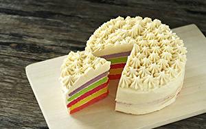 Картинки Сладкая еда Торты Кусочки Еда