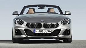Обои BMW Спереди Серебряный Родстер Z4 M40i Z4 2019 G29 машины