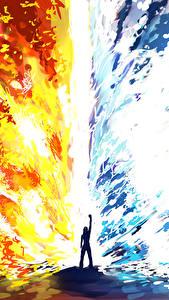Обои Фантастический мир Пламя Воде Фэнтези