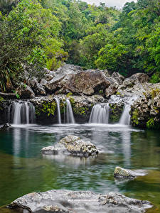 Фотография Франция Водопады Камни Ste-Suzanne Reunion