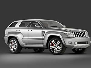 Картинки Jeep Серый Металлик Сбоку Внедорожник Trailhawk Concept, 2007 Автомобили