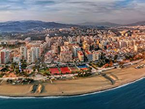Фотография Испания Здания Берег Улиц Torre del Mar Malaga province Города