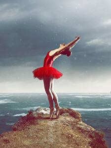 Фотография Утес Платье Танцует Руки Балет